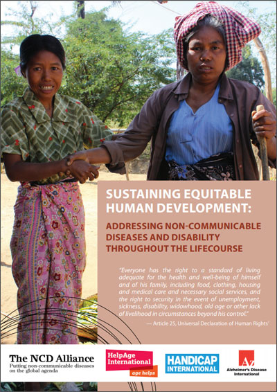 Without Addressing Disability Well >> Sustaining Equitable Human Development Addressing Non Communicable