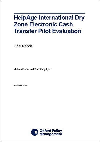 Electronic cash transfer evaluation report